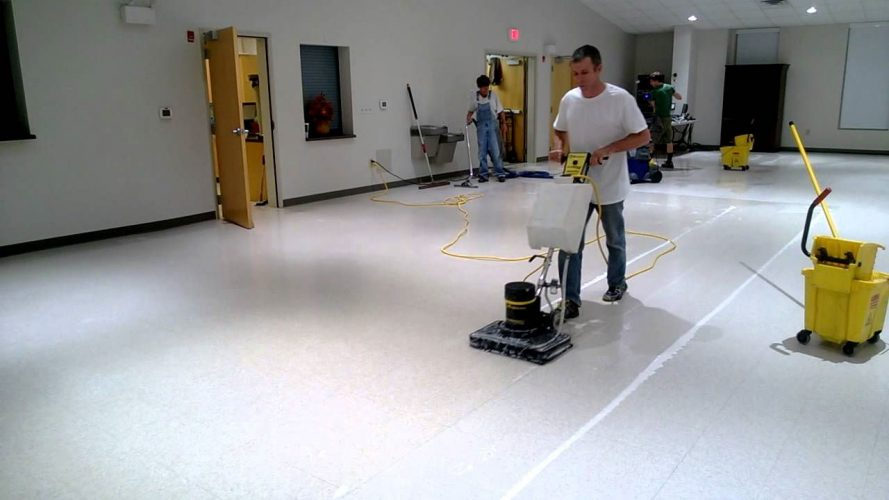 Can a Square Scrub Machine Really Dry Strip a Floor?